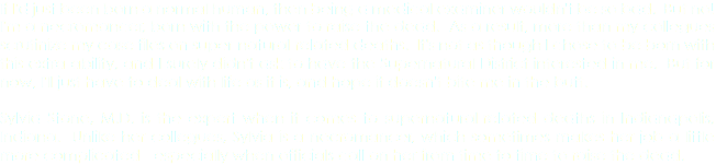 If I'd just been born a normal human, then being a medical examiner wouldn't be so bad. But no! I'm a necromancer, born with the power to raise the dead. As a result, more than my collegues scrutinize my case files on super-natural-related deaths. It's not as though I chose to be born with this extra ability, and I surely didn't ask to have the Supernatural District interested in me. But for now, I'll just have to deal with life as it is, and hope it doesn't bite me in the butt. Sylvia Stone, M.D. is the expert when it comes to supernatural-related deaths in Indianapolis, Indiana. Unlike her collegues, Sylvia is a necromancer, which sometimes makes her job a little more complicated - especially when officials call on her from time to time to raise the dead.